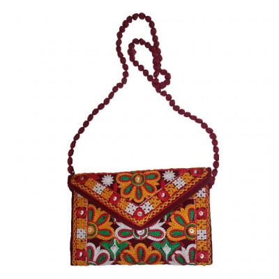 Avnii Organics Rajasthani Gujrati Jaipuri Embroidery Mirror work slings bags for women girls(#1925)-gallery-0