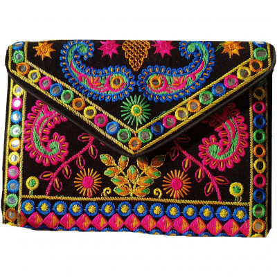 Avnii Organics Rajasthani Gujrati Jaipuri Embroidery Mirror work slings bags for women girls(#1926)-gallery-0