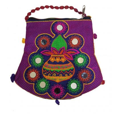 Avnii Organics Rajasthani Gujrati Jaipuri Embroidery Mirror work slings bags for women girls(#1928)-gallery-0