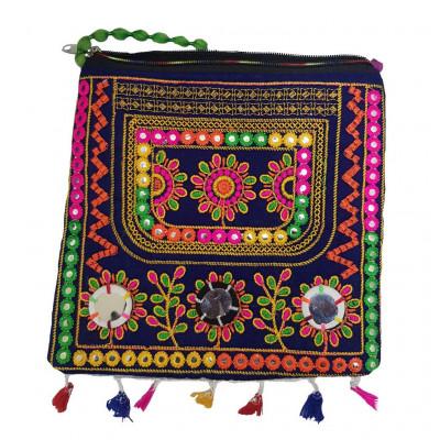 Avnii Organics Rajasthani Gujrati Jaipuri Embroidery Mirror work slings bags for women girls(#1929)-gallery-0