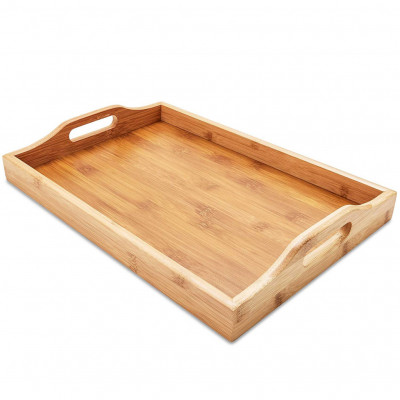 Wooden rectangular Tray SI3(#1932)-gallery-0
