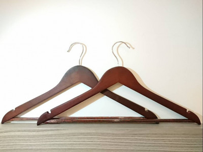 Minimalist Wooden Hanger Natural Finish connected edges(#1933)-gallery-0