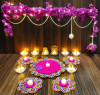 Diwali Toran candle with artificial flower(#1934) - getkraft.com