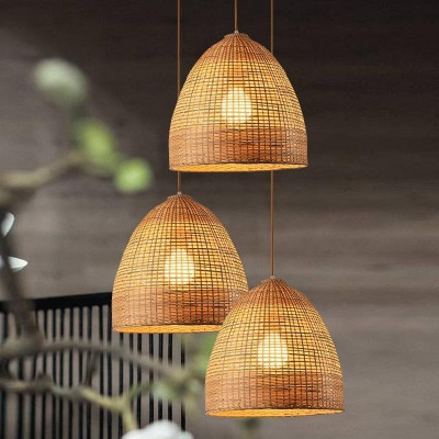 Basket Style Ceiling Bamboo Pendant Light Lamp(#1937)-gallery-0