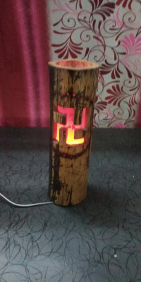 Hand Made eco-friendly Bamboo Table Lamp(#1952)-gallery-0