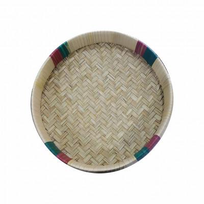 Avnii Organics Beautiful Round Shape Winnowing(Basket) 100 Handmade Natural(#1956)-gallery-0