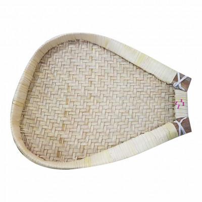 Avnii Organics Beautiful Palm Leaves Shovel Shaped Winnowing Basket(#1957)-gallery-0