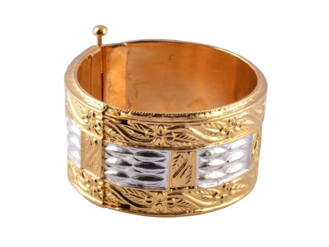 Traditional Assamese Bangle Bracelet Golden 'Muthikharu'(#196)-gallery-0