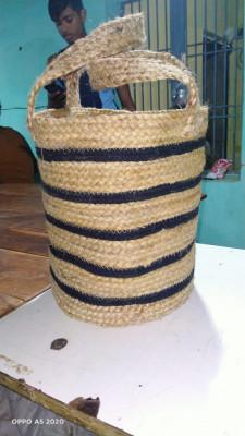 Jute basket with handle(#1981)-gallery-0