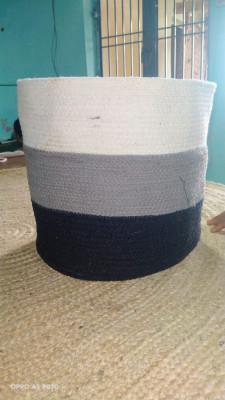 Cotton Basket ( white black gray)(#1983)-gallery-0