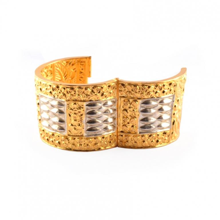 Assamese Gold Plated Jewellery Bangle 'Gam kharu'(#202)-gallery-2