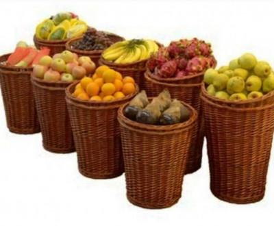 Wicker fruit or vegetable basket(#2052)-gallery-0