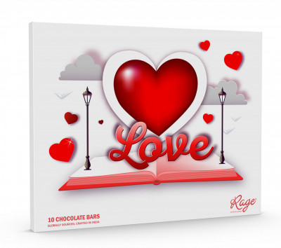 Rage Chocolatier Valentines Day Special Assorted Chocolate Gift Box White Color(#2069)-gallery-0