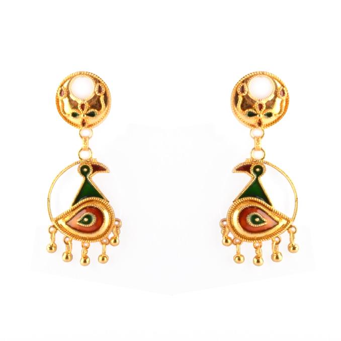 'Kachi Joon Mayur Haar' Assamese Jewellery Set for Women(#208)-gallery-1