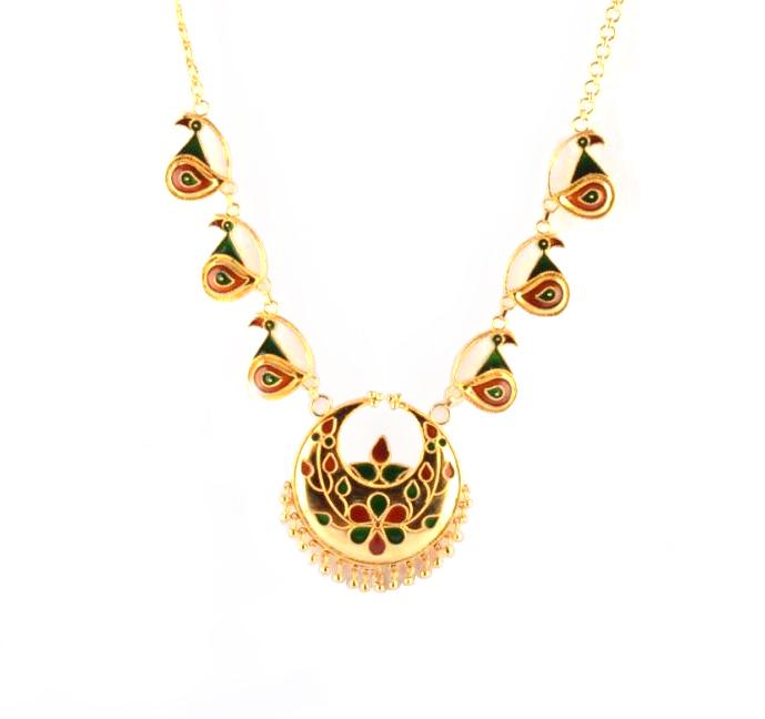 'Kachi Joon Mayur Haar' Assamese Jewellery Set for Women(#208)-gallery-2