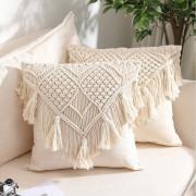 Macrame cushion cover Style 10( Pack of 5)(#2089) - Getkraft.com