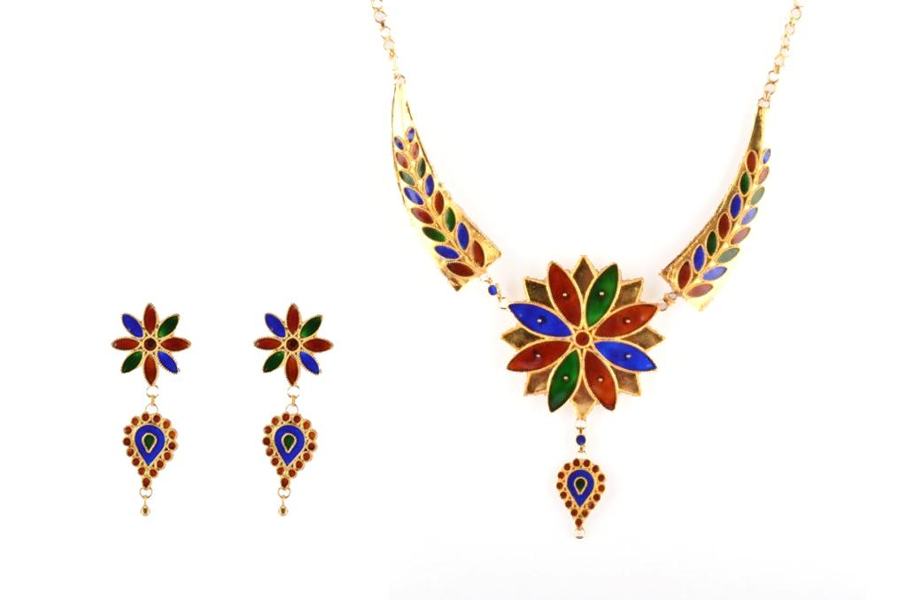 'Pepa Phool Doogdoogi' Traditional Designer Jewellery Set from Assam(#210)-gallery-0