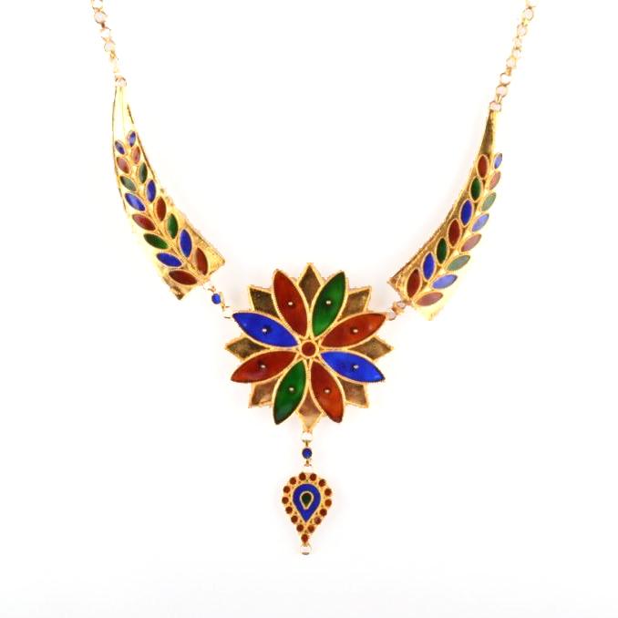 'Pepa Phool Doogdoogi' Traditional Designer Jewellery Set from Assam(#210)-gallery-1