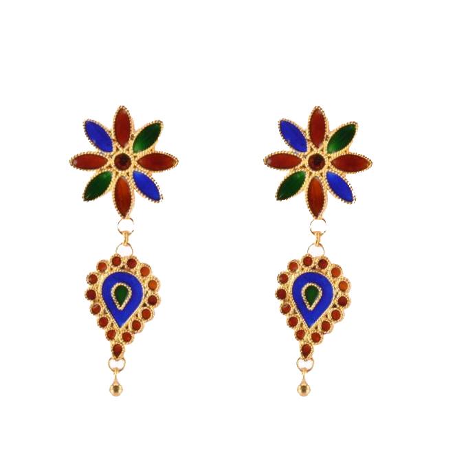 'Pepa Phool Doogdoogi' Traditional Designer Jewellery Set from Assam(#210)-gallery-2