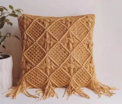Macrame cushion cover Style 24( Pack of 5)(#2111)-gallery-0