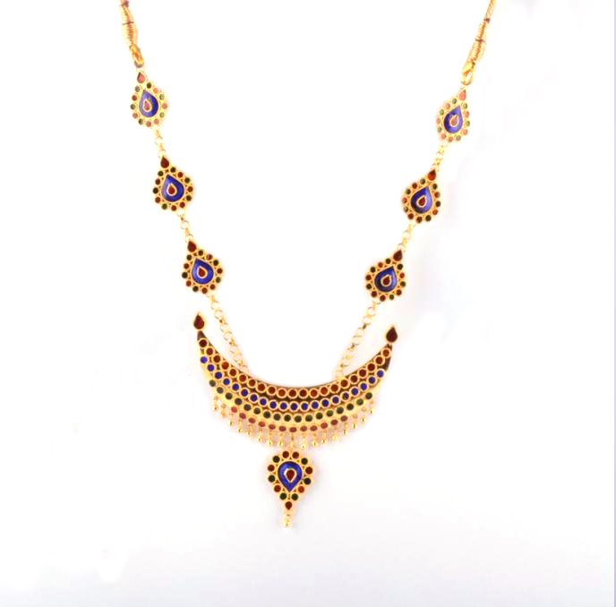 Designer Jewellery Set 'Junbiri Doogdoogi Haar' (Multicolored)(#212)-gallery-1