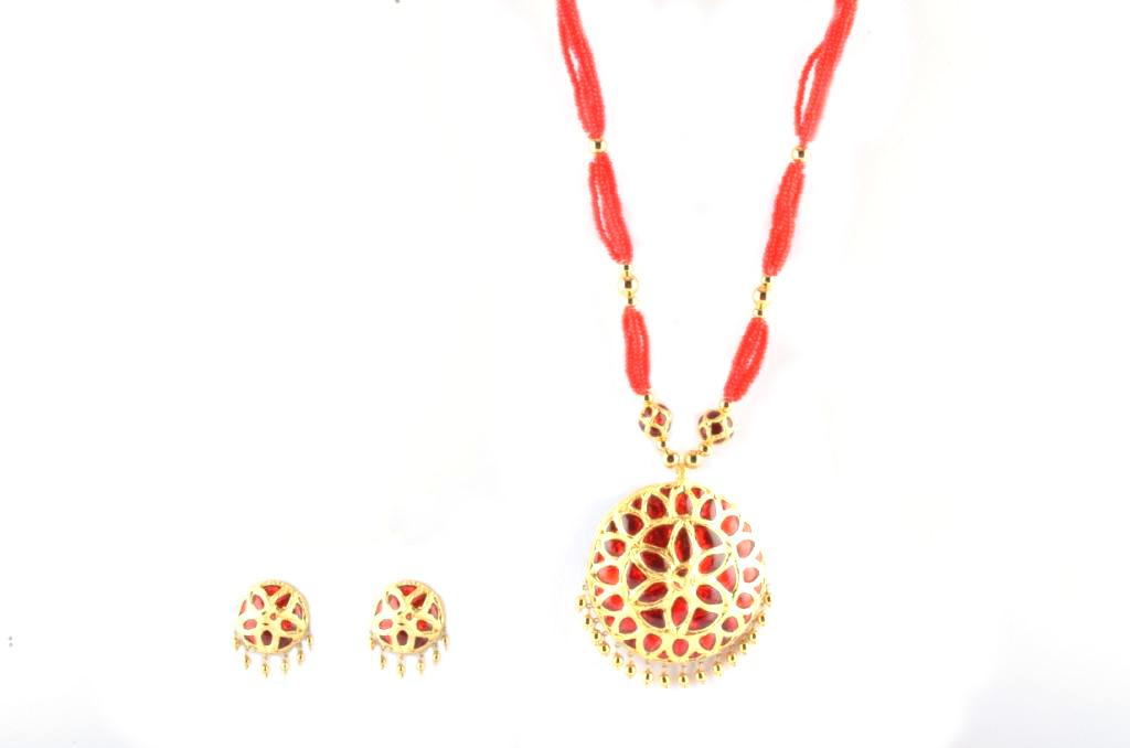 Regular Size 'Jaapi' Traditional Assamese Jewellery for Women(#214)-gallery-0