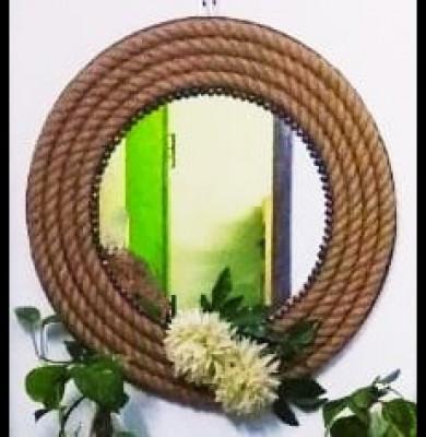 Handicraft mirror (rope )(#2142)-gallery-0
