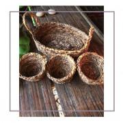 Banana fiber planter Set Style 8(#2177) - Getkraft.com