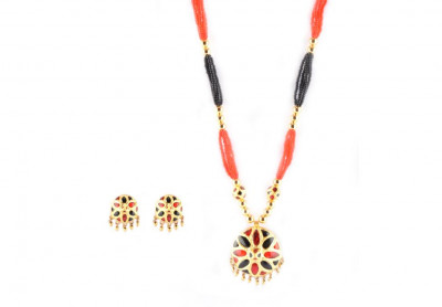 Jaapi Designer Jewellery Set from Assam(#221)-gallery-0
