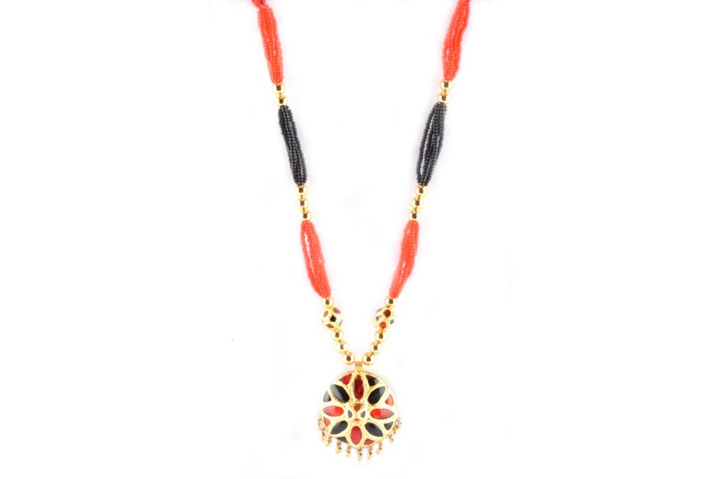 'Jaapi' Designer Jewellery Set from Assam(#221)-gallery-1