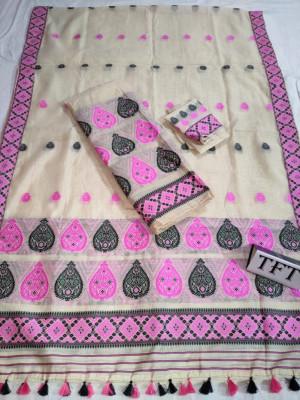 Khadi Cotton Mekhela Chador D13(#2213)-gallery-0