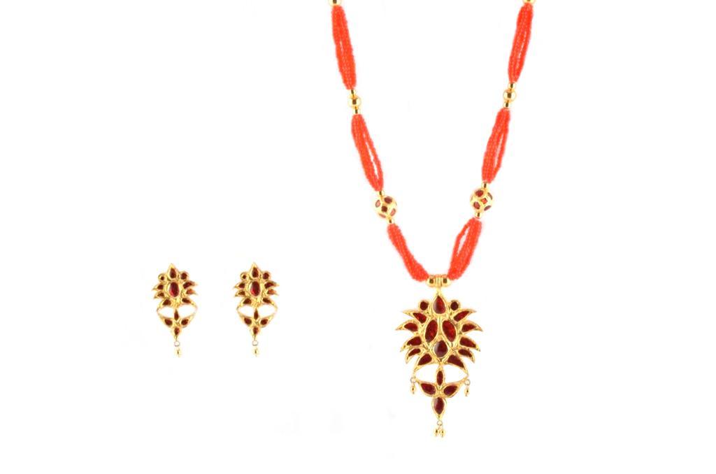 'Jethipata' Assamese Jewellery Set(#223)-gallery-0