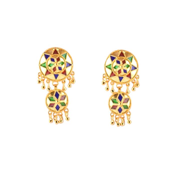 Exotic 3 Piece Jaapi Haar(Assamese Jewellery)(#226)-gallery-1