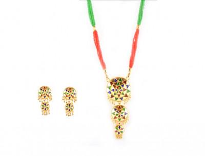 Exotic 3 Piece Jaapi Haar(Assamese Jewellery)(#226)-gallery-0