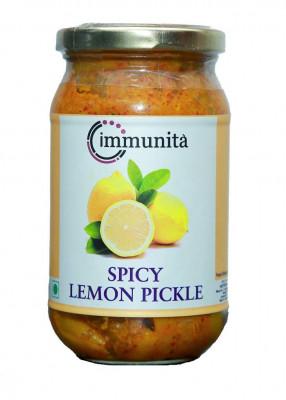 Immunita Spicy Lemon Pickle 350 Gm Homemade Quality(#2273)-gallery-0