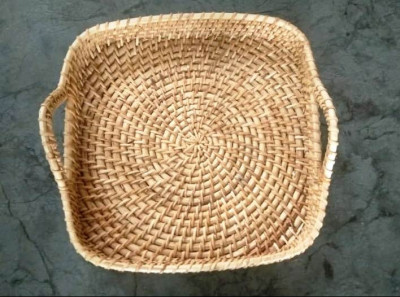 Cane Square Tray 12 inches(#2294)-gallery-0