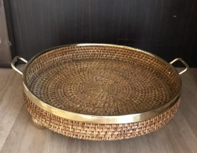 Cane Tray Brown Color(#2295)-gallery-0