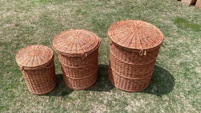 Wicker Laundry Basket Set of 3(#2296)-gallery-0