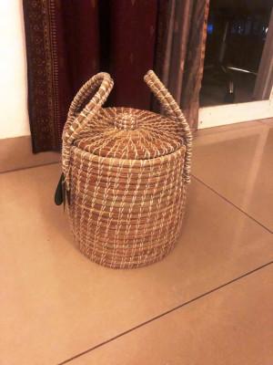 Moonj Grass Seagrass Fiber Pot(#2300)-gallery-0