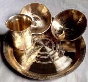 Bell Metal Bowl Plate Set(#2304) - Getkraft.com