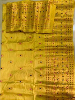 Assamese Paat Chador Mekhela Style 4(#2309)-gallery-0