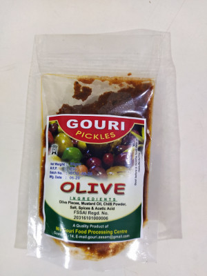 Olive Jalpai Pickle Homemade Natural (300g)(#2328)-gallery-0