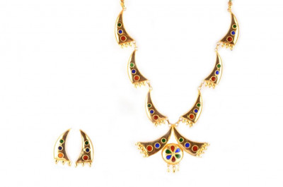 Assamese Traditional Jewellery Pepa Jaapi Haar(#233)-gallery-0