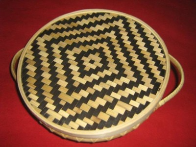 Bamboo Bread Basket with lid(#2376)-gallery-0