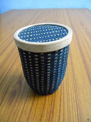 Bamboo Capsule Container - Blue(#2377)-gallery-0