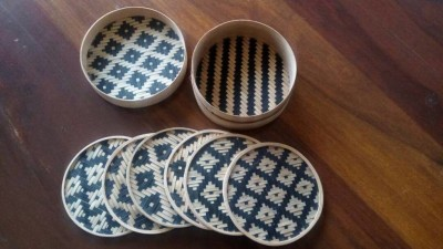 Bamboo Coaster with Box(#2382)-gallery-0