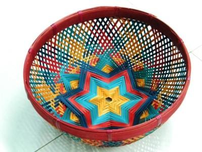 Bamboo Fruit Basket Multicolor(#2385)-gallery-0