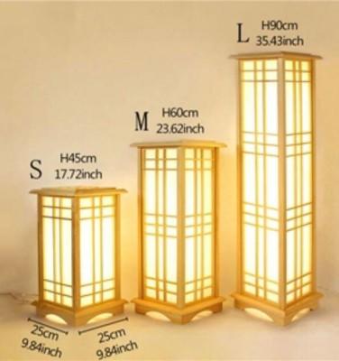 Bamboo Rectangular Lamps Set of 3(#2389)-gallery-0