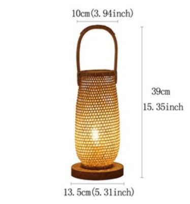 Bamboo Table Lamp With Handle Small Style 111(#2390)-gallery-0