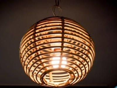 Cane Round Lamp(#2392)-gallery-0